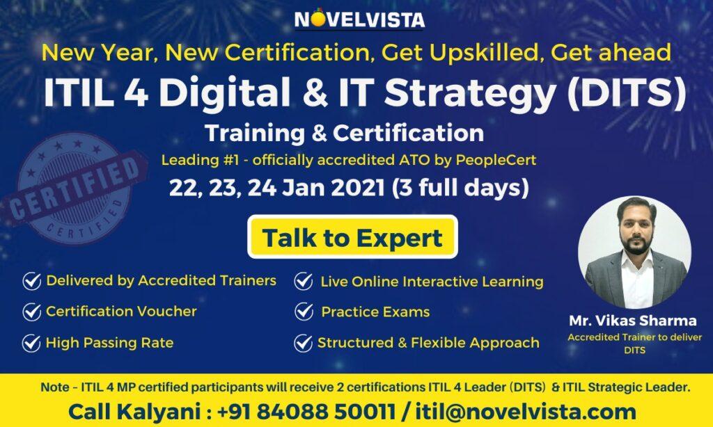 ITIL® 4 Strategic Leader Digital and IT Strategy (DITS) Training Program