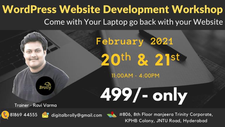 Wordpres Website Development Workshop