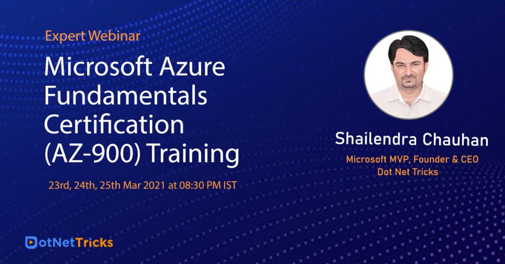 Microsoft Azure Fundamental Certification Training – Dot Net Tricks