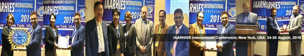 IAARHIES 255th International Conference on Physical & Life Sciences ICPLS – 2021