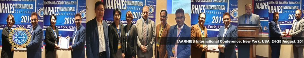 IAARHIES 262nd International Conference on Physical & Life Sciences ICPLS – 2021