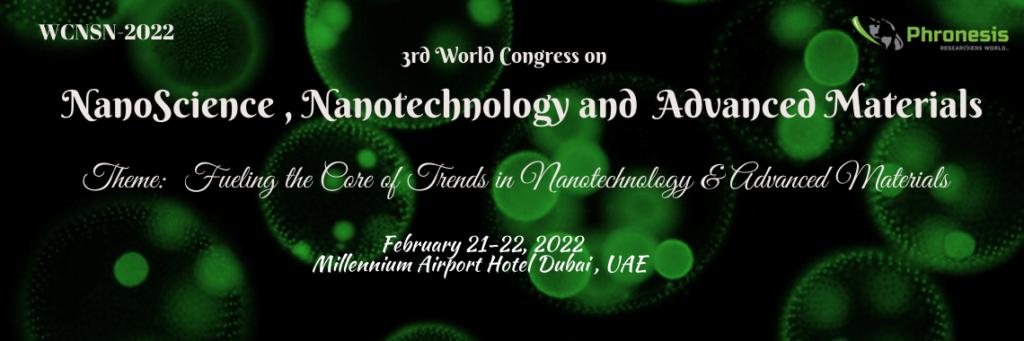 3rd World Congress on Nano Science, Nanotechnology & Advanced Materials