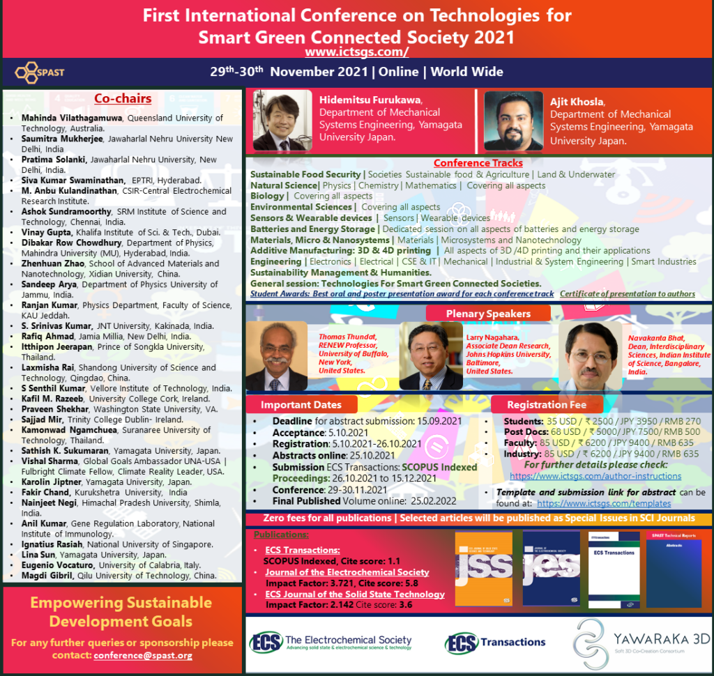 First International Conference on Technologies for Smart Green Connected Society 2021
